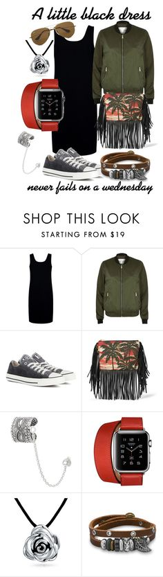 """""""Little Black Dress"""" by luxurycitizen on Polyvore featuring Être Cécile, River Island, Converse, Yves Saint Laurent, Journee Collection, Hermès, Bling Jewelry, BillyTheTree and Ray-Ban"""
