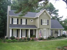 Our first house, We just had it repainted on the exterior. We used Porter-Mountain Poplar. Turned out really nice.