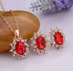 Crystal Flower Jewelry Sets