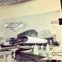 Beautiful sketch by @lmimos #architect #architecture #architectureschool #architecturestudent #archiporn #sketch #sketching #draw #drawing #beautiful #perspective #view #design #designer #interiordesign #handmade #shot #rotring #sun #sky #artist #artist #work #passion #usa #unitedstates #australia #france Gekkoe is everywhere  GET YOUR INVITE on www.gekkoe.com #platform #comingreallysoon