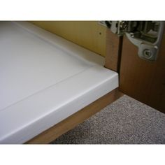 Vance Sink Base Liner tray protects cabinets from spills and leaky plumbing or bottles. Flexible design allows for single piece installation into sink base cabinets with or without center stile. Kitchen Sink Storage, Best Kitchen Sinks, Kitchen Cabinet Organization, Kitchen Shelves, Organization Ideas, Wood Shelving Units, Drawer Shelves, Shelf, Tabletop