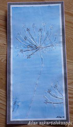 Askartelukaappi: Jääkukkia paperilla Winter Art Projects, Winter Crafts For Kids, School Art Projects, Art For Kids, Hobbies And Crafts, Diy And Crafts, Fine Motor Activities For Kids, Snow Theme, 4th Grade Art
