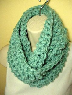 Soft Sage Cowl Infinity Circle Scarf Neckwarmer by madebymandy35, $18.00