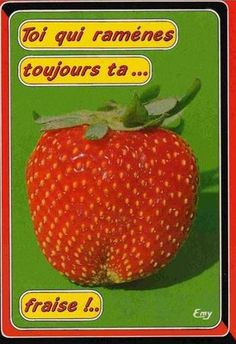 foreign strawberry seed packet.