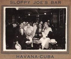 One of his usual clients was Ernest Hemingway. He visited Jose Garcia in several occasions with his pal, Joe Russell who was the owner of another Sloppy Joe's Bar in Cayo Hueso, a name Hemingway had suggested in honour to Mr. Garcia. The tourists that visited Havana during that epoch, mostly North Americans, preferred two places: