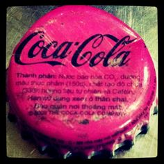 Pink Coca Cola Bottlecap in Vietnam! by r00ft0p_ang3l, via Flickr