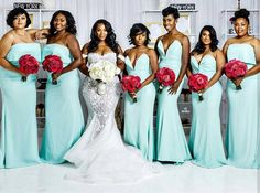 Beyond Gorgeous ❤ #Jamwiththemartins bridal party. Ahoufe bride…