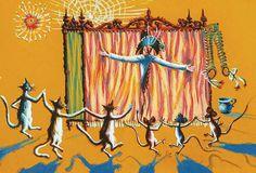 Philippe, Illustrations, Cat Art, Decor, Cats, Discus, Artists, Hat, Decoration