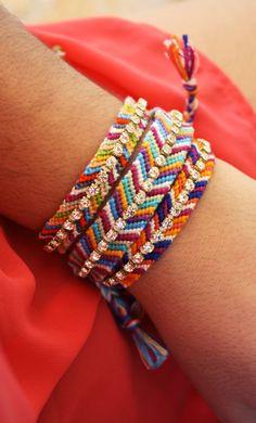 Rhinestone Friendship Bracelet Purple Plum Blue by keijewelry