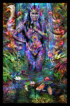 Série hindoue - Lakshmi Tapisserie - Jumbie Art