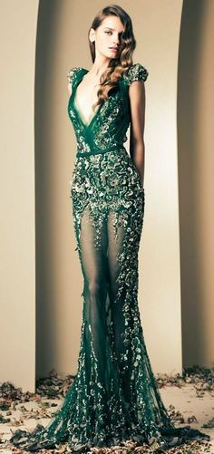 Sheer Emerald Dress