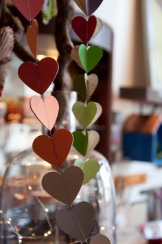 plum goods, santa barbara, ca Santa Barbara, I Love Heart, My Love, Mobiles, Heart Garland, Diy Garland, Jar Of Hearts, Heart Chain, Paper Hearts