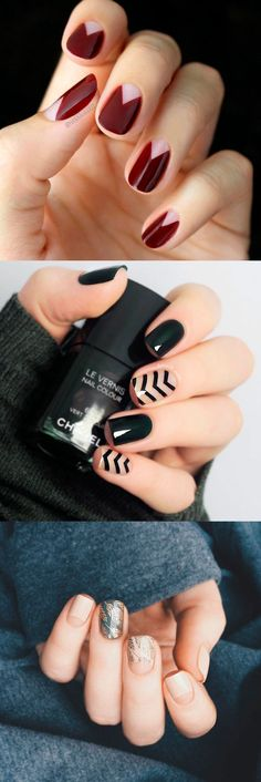 Dark manicure with negative space is always trending. Look what interesting ideas we prepared for you.