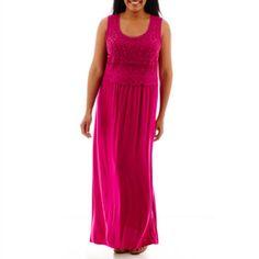 dfd3aa8283f9 John s Bay® Sleeveless Crochet Maxi Dress - Plus