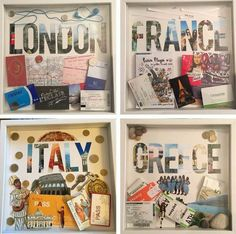 How To Stylishly Decorate Your Home With Travel Souvenirs Decora tu hogar con recuerdos de viaje Travel Shadow Boxes, Travel Wall Decor, Decoration Entree, Travel Crafts, Travel Souvenirs, Disney Souvenirs, Travel Memories, Travel Scrapbook, Decorating Your Home