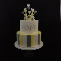 Funky Engagement Cake - by cjsweettreats @ CakesDecor.com - cake decorating website