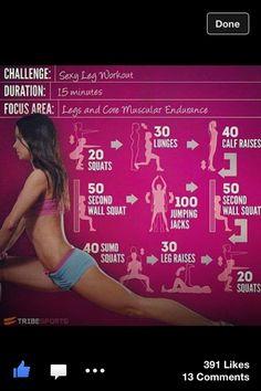 Sex leg workout