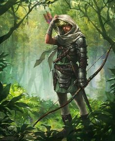 Male ranger forest fantasy character idea Dungeons and Dragons Dark Fantasy, Fantasy Concept Art, Fantasy Character Design, Medieval Fantasy, Fantasy Artwork, Character Concept, Fantasy Rpg, Character Inspiration, Character Art