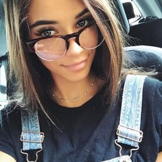 When it comes to Pretty Girls with Glasses, many will struggle with the decision of whether to pose for the photograph and then post it online or if t. Fake Glasses, New Glasses, Girls With Glasses, Glasses Frames, Makeup With Glasses, Glasses Outfit, Cute Sunglasses, Sunglasses Women, Womens Fashion Online