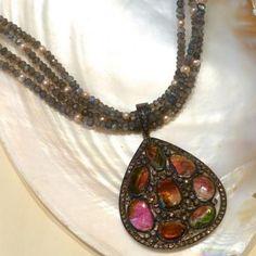 Tourmaline ; Laura Aline october birthstone design October Birth Stone, Birthstones, Pendant Necklace, Beauty, Collection, Jewelry, Design, Fashion, Moda