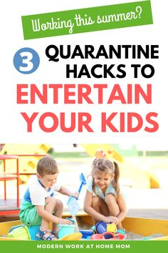 How to create a summer outside station for your kids while you work! Looking for summer ideas for kids? Check out these outside ideas for kids at home. How to work at home with kids? Need ideas for how to work with kids during the summer? Check out these ideas to create a small sandbox, water activities for kids, water activities for toddlers, toddler activities inside while you work. #athome #workwithkids #workathome #summer via @themodernwahm Educational Activities For Toddlers, Hands On Activities, Activities For 2 Year Olds, Games For Toddlers, Summer Activities For Kids, Water Activities, Summer Kids, Preschool Activities, Work From Home Moms