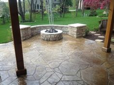 like the curve of this fire pit