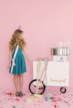 Creative Cotton Candy Cart | Glitter Girl: Cloe Lane Of Bon Pouf/Kimberly Genevieve Photography