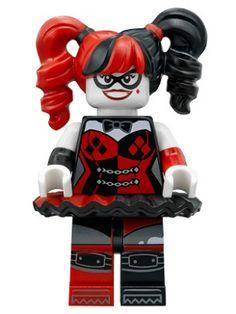 Minifig : Lego Harley Quinn - Black and Red Tutu [Super Heroes:The LEGO Batman Movie] - BrickLink Reference Catalog Lego Minifigs, Lego Ninjago, Lego Lego, Lego Minecraft, Legos, Harley Quinn, Gotham, Figurine Lego, Lego Decorations