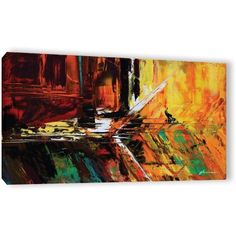 ArtWall Milen Tod Glitch Gallery-wrapped Canvas, Size: 18 x 36, Red