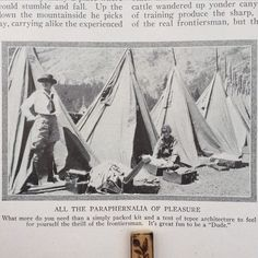 """Chuckling at this great caption in a #1924 issue of #NatureMagazine. """"It's great fun to be a """"Dude""""."""" :) @bkflea #mousetrapvintage #brooklynflea #bkflea #cowgirls #1920sfashion #historicalclothing #duderanch (at Brooklyn Flea)"""