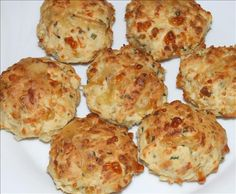 Cheese and Chive Scones from Food.com  								Easy to bake--tasty and so versatile.  Yummy when still warm, great with a filling, or cold on a picnic.  Delicious split and grilled--my family loves these.