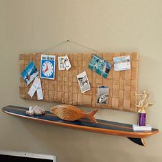 navy surf board shelf