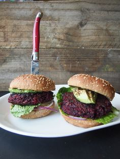 Is this the perfect veggie burger? This smoky, chipotle-spiced beet and quinoa burger will have you asking 'Where's the beet?'