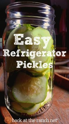 Too many cucumbers?  Make these simple and easy refrigerator pickles-- your family will love them!.