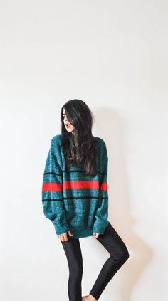 Vintage Oversized Sweater by GoodCompanyCo on Etsy