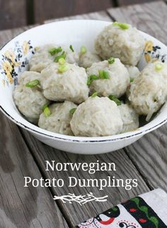 Norwegian Potato Dumplings Klub Recipe - I Cook Different Norwegian Cuisine, Norwegian Food, European Cuisine, Viking Food, Norway Food, Nordic Recipe, Heritage Recipe, Swedish Recipes, Norwegian Recipes