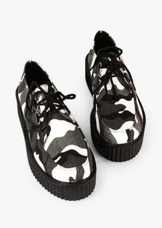 Camouflage Gray Creepers
