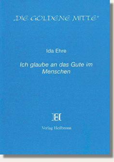 Heft 31 - Ida Ehre - Ich glaube an das Gute im Menschen. Sie wurde als Tochter jüdischer Eltern geboren. Ihr Vater starb früh, worauf ihre Mutter mit ihren sechs Kindern nach Wien übersiedelte und für sich und die Familie ihren Lebensunterhalt mit Näharbeiten verdiente. Mit 16 ging Sie zur Schauspielschule. Über Bühnen in Österreich + Deutschland kam sie 1931 nach Berlin. http://www.verlag-heilbronn.de/b%C3%BCcher/goldene-mitte-heftreihe-1-33/31-ida-ehre-ich-glaube-an-das-gute-im-menschen/