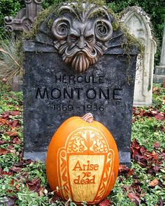 Arise from the DeadArise from the Dead- Jacquie W. started carving pumpkins after being inspired by photos in Martha Stewart Living. She looks for photos of New England headstones online, sketches them, and then carves designs onto pumpkins using a linoleum cutter and wood chisels of various sizes