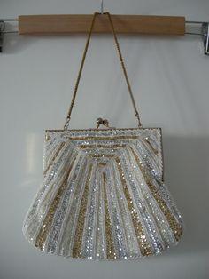 1940s elegant vintage handmade art deco purse.