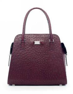 Michael Kors Handbags Sale Gia Embossed Satchel Ostrich-Embossed
