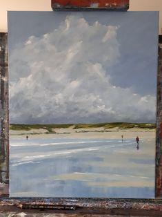 Beach Walk 16 x 20 ins oil on canvas artfinder.com/john-halliday