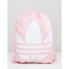 0867d98e207a Adidas Originals Drawstring Backpack Bag with Trefoil Logo in Pink