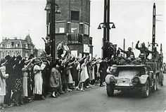 On 15 May, 1940 the Germans entered  Amsterdam by the Berlage bridge, welcomed by sympathizers, probably NSB members.