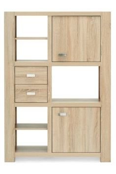Nice - not too solid, but has cupboards for the unsightly stuff. Drawers for stationery, shelves for books.  Corsica® Tall Shelves