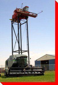 Combine in the Sky - Allan, Saskatchewan