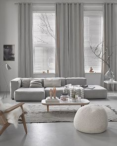 Find your favorite Minimalist living room photos here. Browse through images of inspiring Minimalist living room ideas to create your perfect home. Living Room Grey, Living Room Interior, Home Living Room, Apartment Living, Living Room Designs, Cozy Living, Small Living, Cozy Apartment, Modern Living Room Curtains
