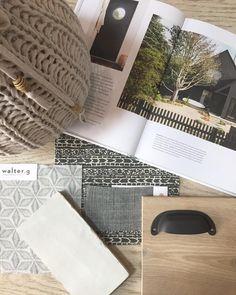 | bits from today | #kellynuttdesign #whiteoak #handglazedtile #textilefavorites #waltergtextiles Interior Design Boards, Flower Landscape, Colour Board, Fabric Wallpaper, White Oak, Vignettes, Interior Inspiration, Interior Decorating, Sweet Home