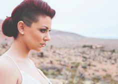 Bridal edgy up-do hairstyle  http://eatsleepbeauty.com/