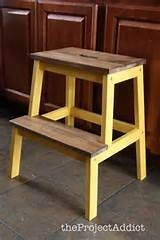 bekvam stool the natural look with bright yellow! Maybe a deep blue or teal? Small Furniture, Ikea Furniture, Colorful Furniture, Paint Furniture, Repurposed Furniture, Shabby Chic Furniture, Ikea Bekvam, Bekvam Stool, Ikea Step Stool